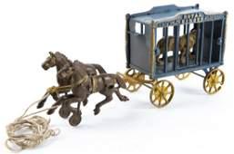 Hubley Royal Circus Tiger Cage Wagon Toy
