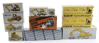 11 German Die Cast Construction Vehicles in OBs