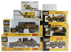8 CAT Yellow Die Cast Construction Vehicles in OBs