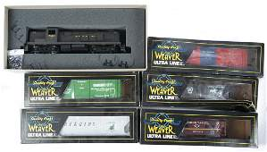 6 Weaver Ultra Line Engine and Freight Cars