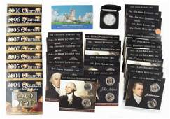 Misc Items incl Unc Presidential Dollars