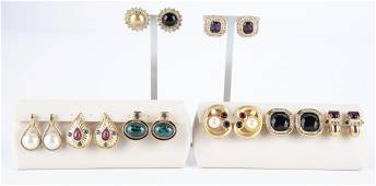 8 Pairs Costume Fashion Earrings