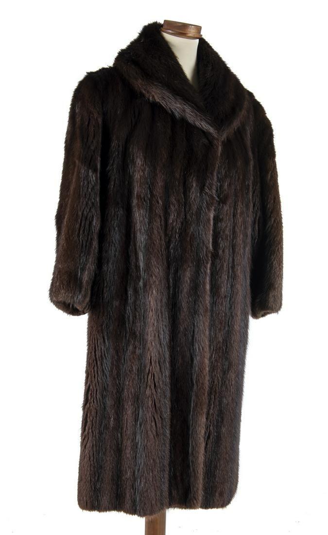 W.B. Schleisner Full Length Brown Mink Fur Coat
