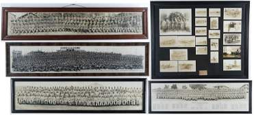 Collection of Framed WWI  WWII Military Photos