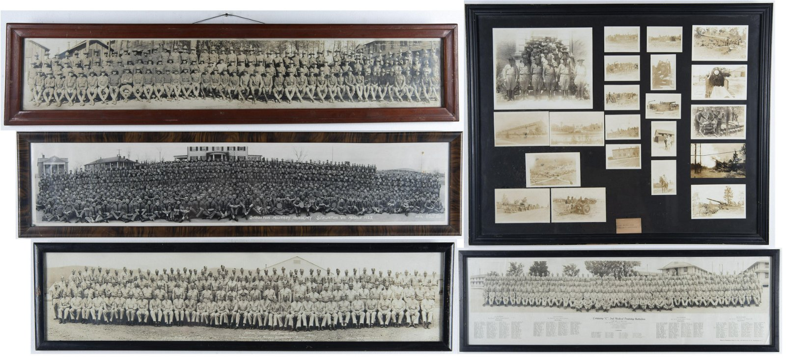 Collection of Framed WWI & WWII Military Photos