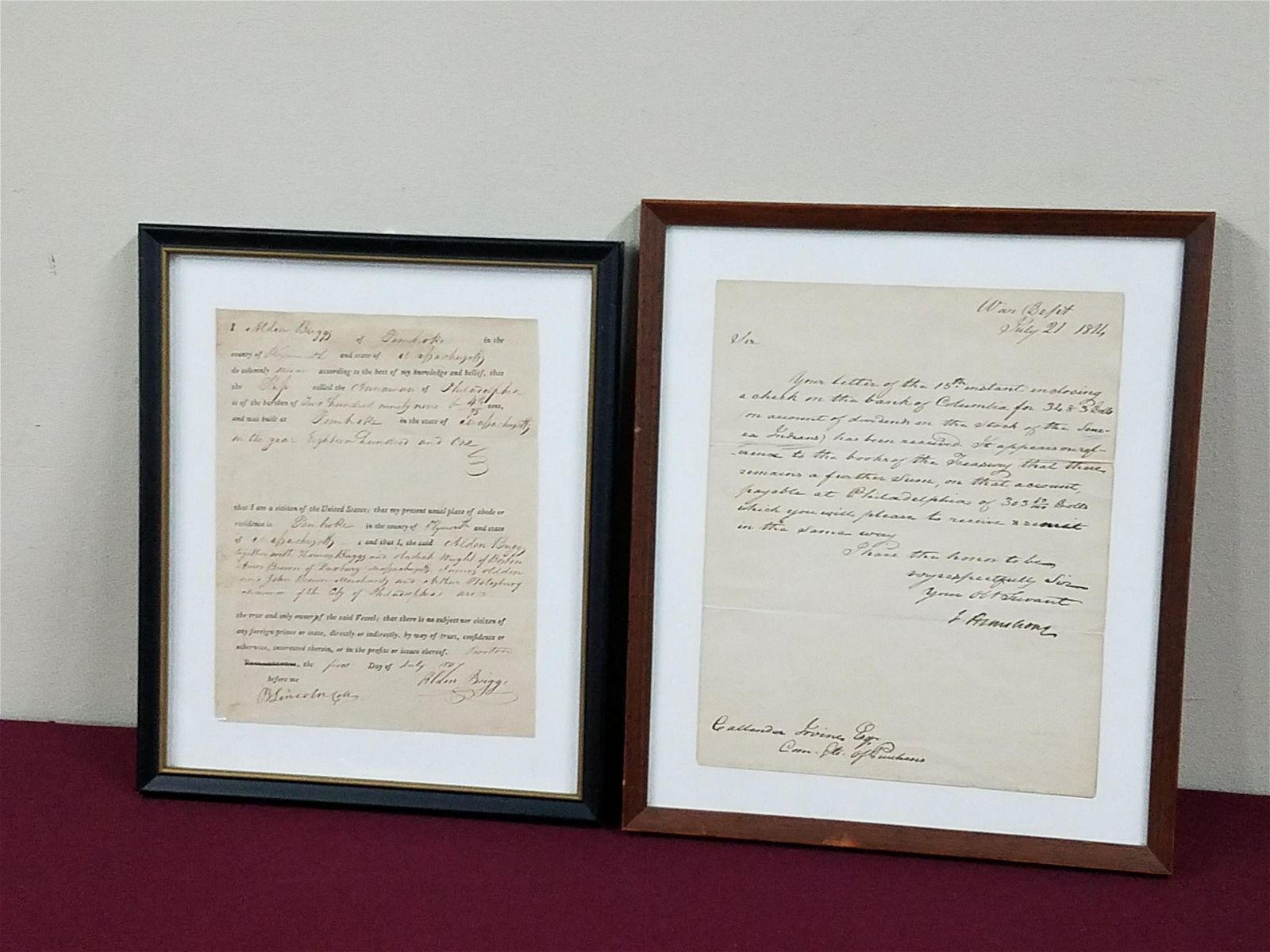 J. Armstrong Jr and B. Lincoln Autographs