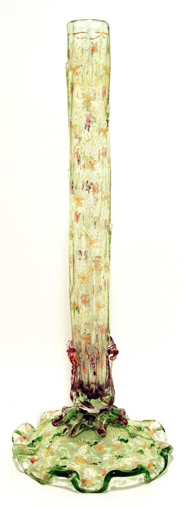 15: 19th C Moser Type Naturalistic Stick Vase