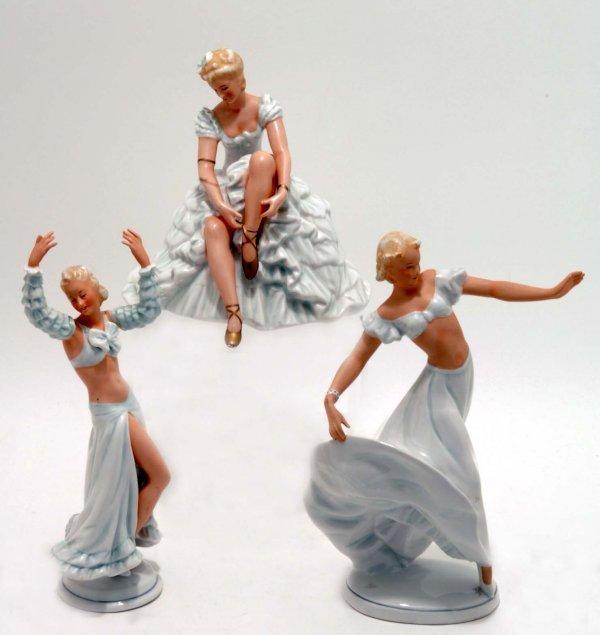 96 three schaubach kunst art deco figurines. Black Bedroom Furniture Sets. Home Design Ideas