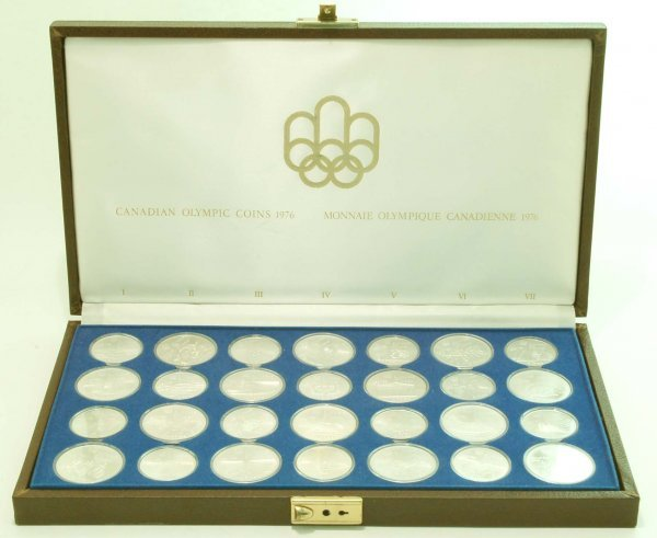 442: 28 Piece Set of 1976 Canadian Olympic Silver Coins