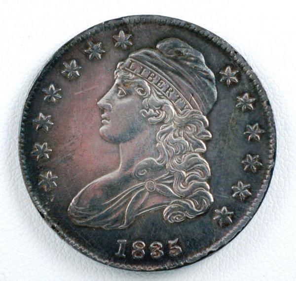 443: 1835 Bust Half Dollar XF