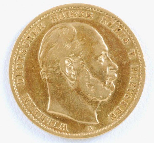 444: 1875 German 10 Mark Gold Piece Prussia