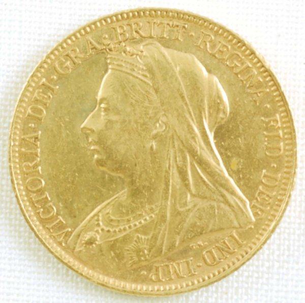 448: 1898 British Queen Victoria Gold Sovereign AU