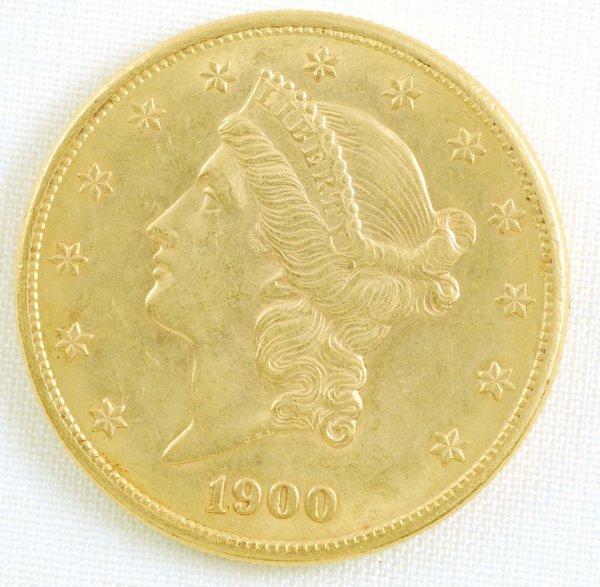449: 1900-S Liberty Head Double Eagle $20 Gold Coin AU