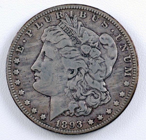 455: 1893-O Morgan Silver Dollar VF