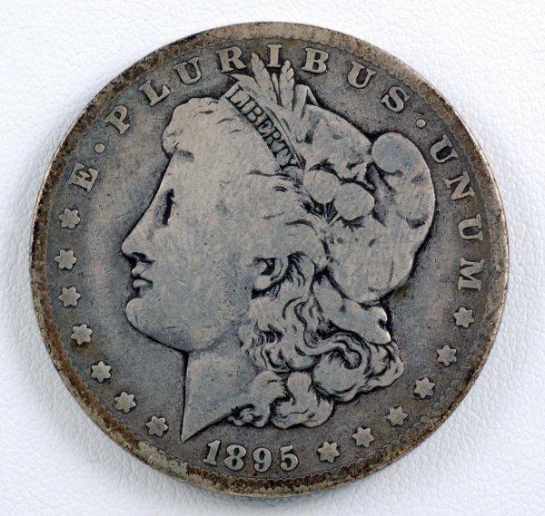 459: 1895-O Morgan Silver Dollar F