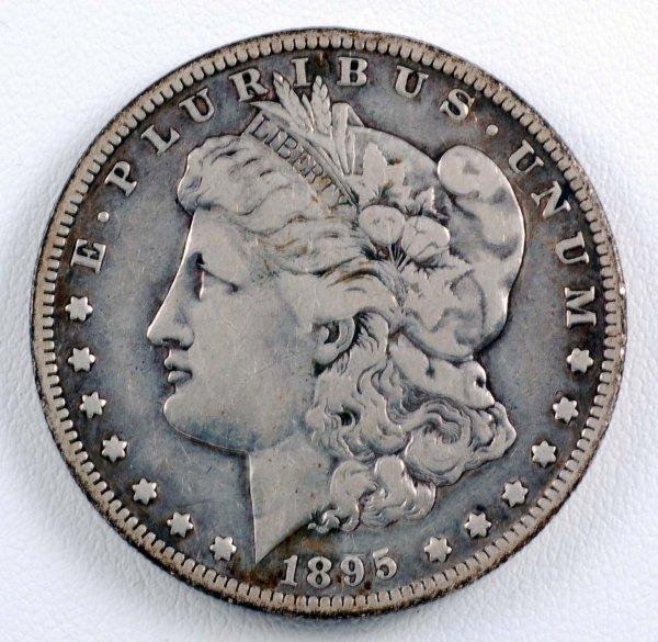 460: 1895-S Morgan Silver Dollar F