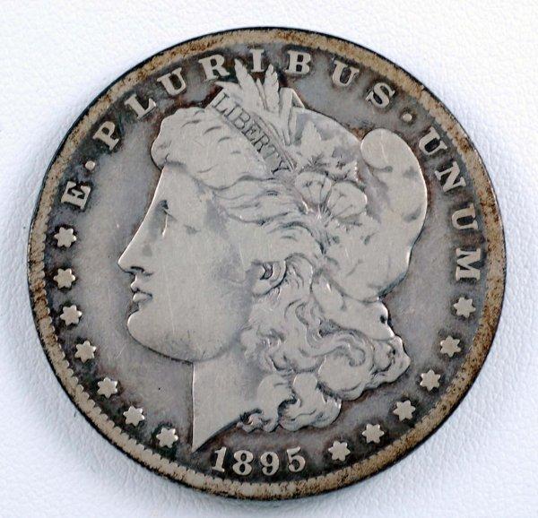 461: 1895-S Morgan Silver Dollar F-VF