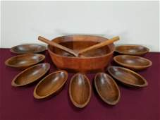 11 Pc Salad Bowl Set incl Dansk Serving Bowl