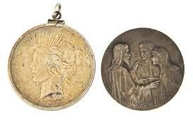 Peace Silver Dollar  Silver Medal