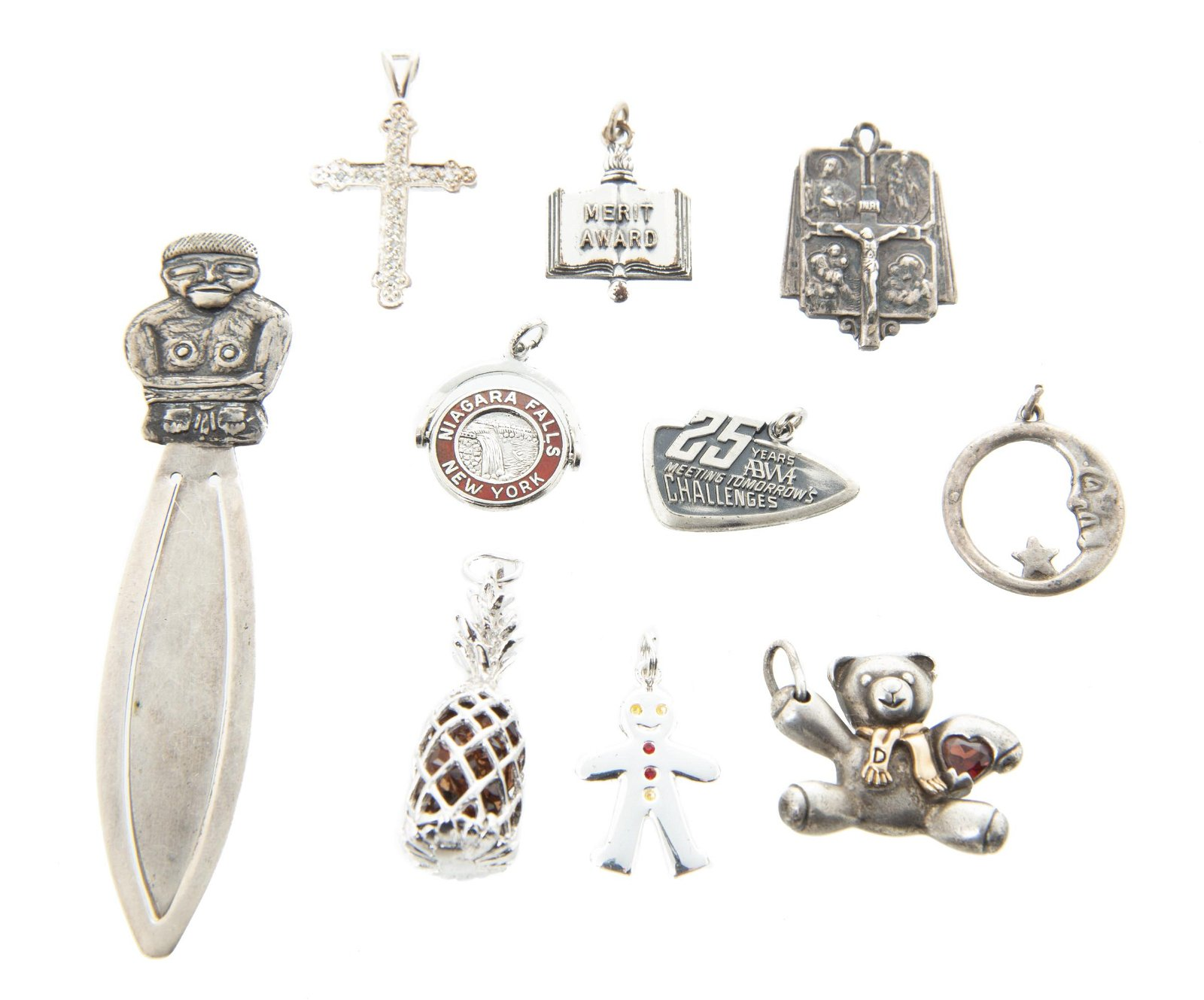Sterling Charms & Money Clip