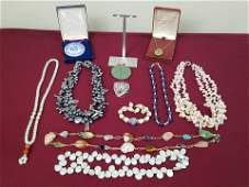 12 Pcs Jewelry incl Jade and Pearls