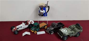 5 Franklin and Danbury Mint Die Casts and Stein