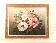 Large Oil Painting Floral Still Life