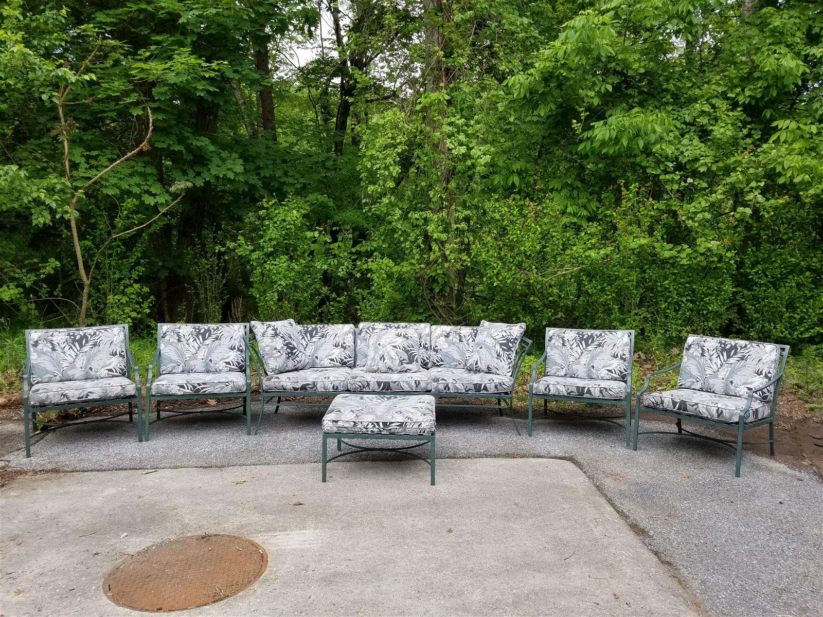 Brown Jordan 6pc Metal Patio Set with Cushions