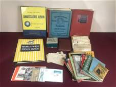 46 Pc Collection of Stamps Incl Albums