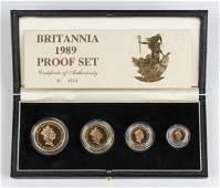 4 Pc Britannia Gold Proof Set, 1989