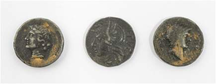 3 Bronze Greek and Roman Coins