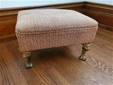 Foot Stool with Lion Head Feet