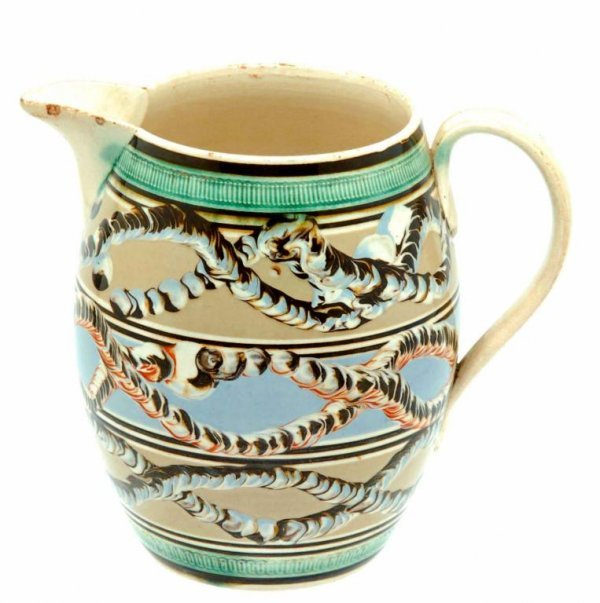9: Very Fine Earthworm Pattern Mocha Pitcher