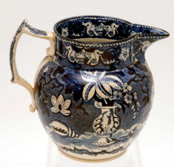 13: 19th C English Transferware Pitcher