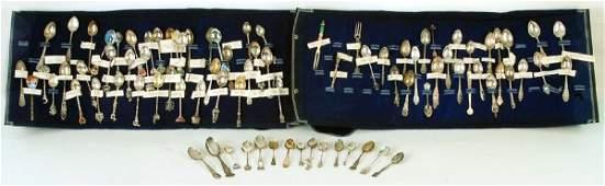 156 84 Piece Souvenir Spoon Collection