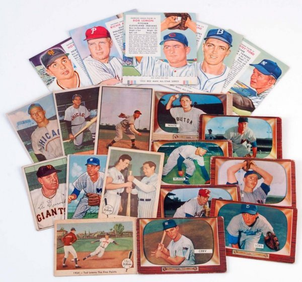 582: 20 1950's Bowman Fleer Red Man Baseball Cards