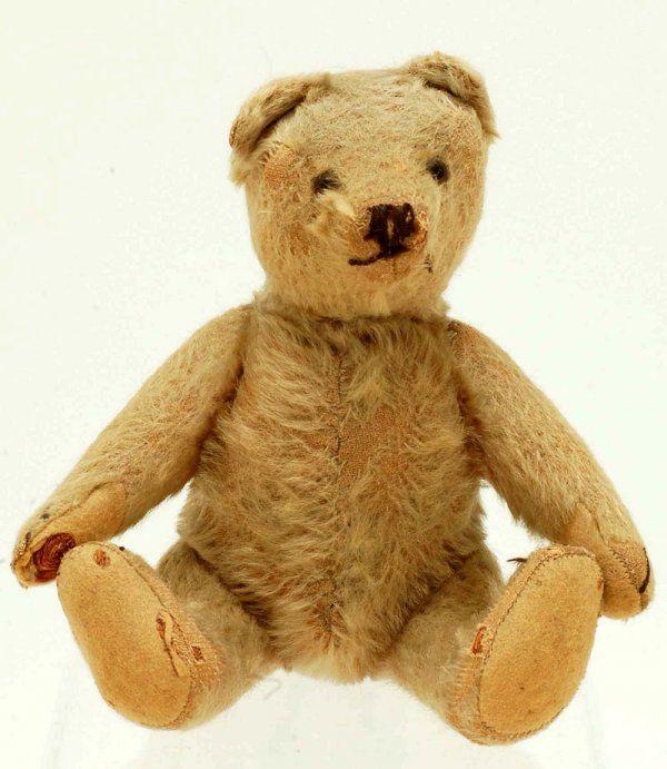 """Early 8"""" Center Seam Mohair Teddy Bear Steiff"""