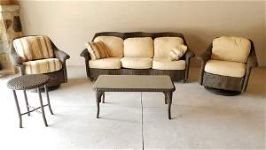 5 Pc Lloyd Loom Outdoor Furniture Set