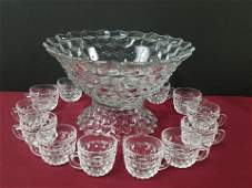 Fostoria American Punch Bowl Set