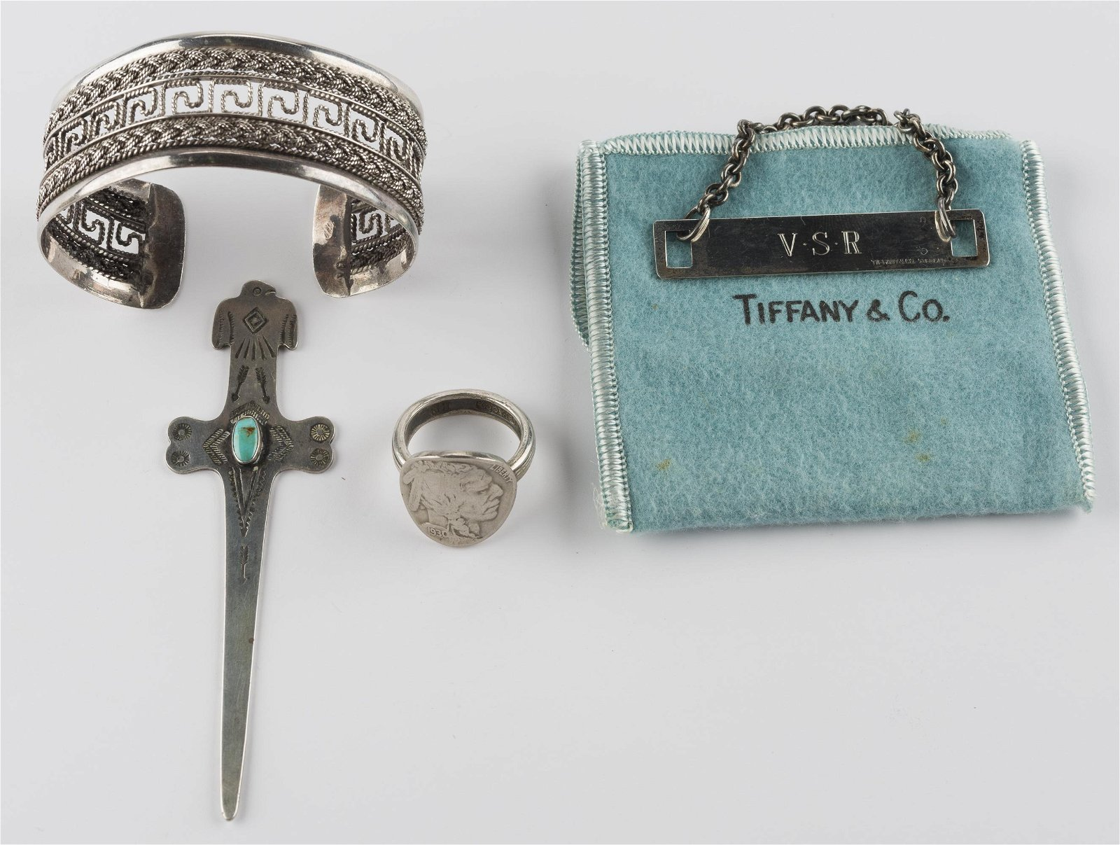 4 Pcs Silver Incl Tiffany & Co. Sterling