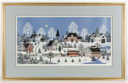 Jane Wooster Scott Hand Signed Lithograph