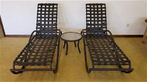 2 Tropitone Lounge Chairs with Side Table