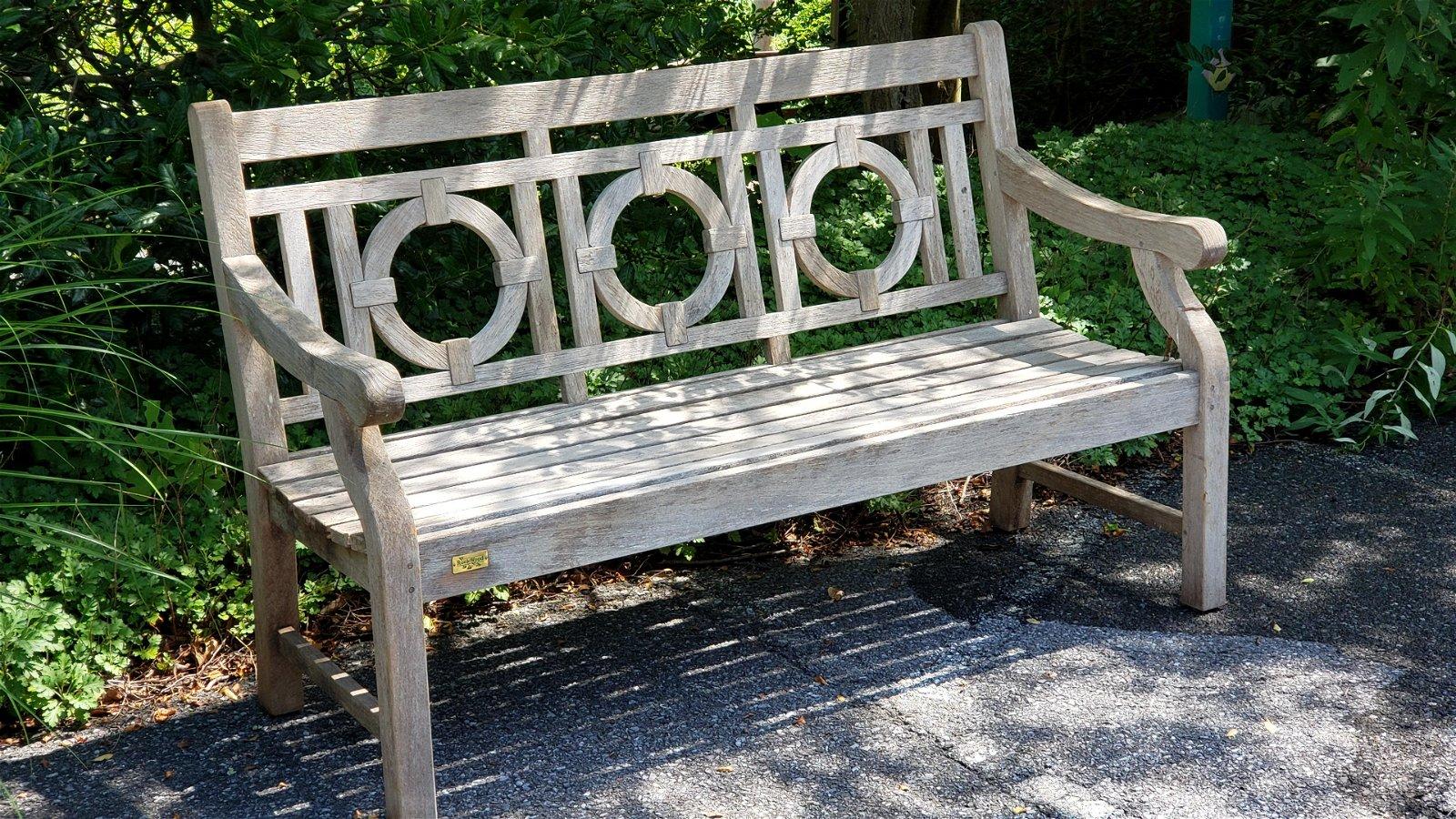 Rock Wood Outdoor Teak Wood Bench