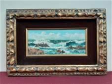 T Raymond Shore Scene Oil Painting
