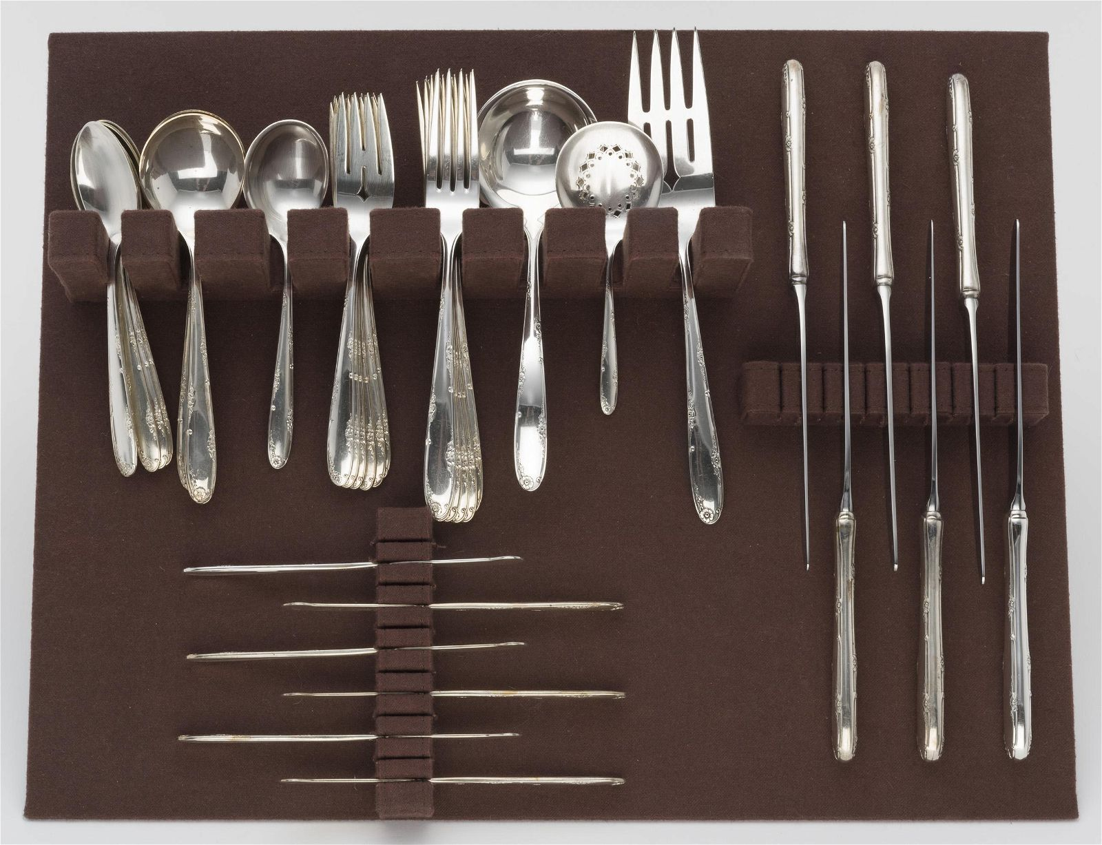 40 Pcs Towle Madeira Sterling Flatware