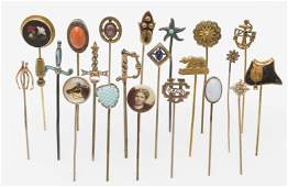Collection of 20 Antique Stick Pins