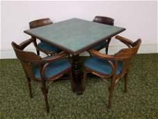 Table With Four Vintage Chairs