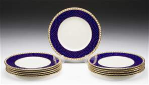 Set of 11 Minton's Tiffany & Co. Dinner Plates