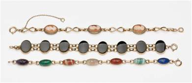 3 Gold Filled Bracelets