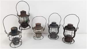5 Railroad Lanterns